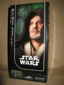 "SIDESHOW Star Wars Qui-Gon Jinn Jedi Master 12"" 1/6 Figure  Factory Sealed"