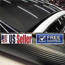 """4D Premium Carbon Fiber Vinyl Wrap Film BUBBLE FREE Sheet Sticker Decal 60""""x60"""""""