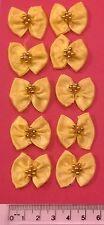 Arcos de la cinta X 10 Satén Grande-Craft boda bebé empavesado Sew-Amarillo
