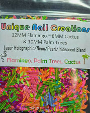 FLAMINGO/PALM TREE/CACTUS GLITTER BLEND~Nail•Acrylic•Gel•Body Art•Face•Festival