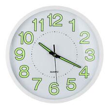 12 zoll Wunderschöne Grüne LED Uhr Analog rund Wanduhr Quarzuhr Designuhr Rund