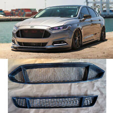 Front Bumper Upper&Lower Real Carbon Fiber Grille For Ford Mondeo/Fusion 2013-16