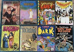 8 Miscellaneous Underground Comic Low Grade Reading Lot #4  Fantagor #4