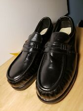 Iron Age Black Leather Comfort Steel Toe Loafers Mens Sz 9.5 W New
