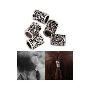 Viking Beard Beads Hair Beads-Viking Hair Beads for Men Diy Beads Celtic Rosa...