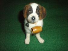 Ooak wool felted large realistic soft fluffy rare artist Saint Bernard Dog