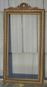 Lovely Floral Swirl Top Art Nouveau Art Crafts Silver Gray Picture Frame 10 x 20