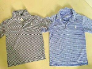 TWO Boys Johnnie-O Performance polo Golf shirts - Size 8