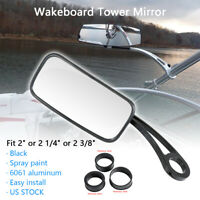 Black Mirror Mount Tower Mirror Reaview Ski Wakeboard Swoop Arm Bracket Boat