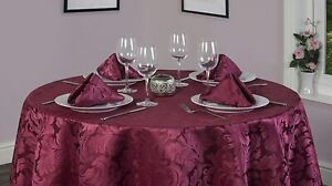 Cadiz Damask Effect Tablecloth Range - 3 Colours - Items Sold Separately