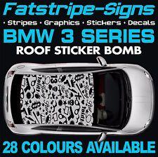 BMW 3 Series Graphics STICKER BOMB TETTO Decalcomanie Adesivi Strisce E46 E90 M3 PISTOLA
