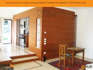 Pannello boiserie in legno laminato WENGE' ROVERE PALISSANDRO TORTORA 60 X 210