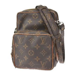 Auth Louis Vuitton Amazon Shoulder Bag Monogram Leather Brown M45236 64JC879