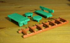 Smurfs Garden Playset Vintage Smurf Toys Schleich Table Chairs Bench Ladder Lot