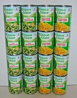 (16 Cans Total) GREEN GIANT - (8) Cut Green Beans - (8) Whole Kernel Sweet Corn