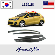 SMOKED DOOR WINDOW VENT VISOR SUN DEFLECTOR KIA RIO HATCHBACK 2012-2017