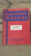 gmc truck T33 T33h F33 F33H  nos shop maintenance manuel 1937