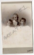 Cabinet Card Gilbert Studios Philadelphia,PA.3 young children Victorian Id'd