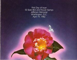 #1953-2002 First Day Ceremony Program 20c Birds & Flower Stamps