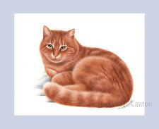 Ginger Cat Sunshine Print From Original by I Garmashova