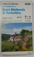 1985 Old Vintage OS Ordnance Survey Routemaster Map 6 East Midlands & Yorkshire