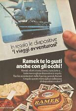 X4560 Formaggio alla crema RAMEK - Pubblicità 1976 - Advertising
