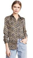 Equipment Brett Button Down Shirt Leopard Print S NWT $280