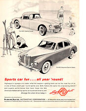 1958 MGA SPORTS COUPE / MAGNETTE SPORTS SEDAN  ~  NICE ORIGINAL PRINT AD
