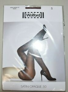 New WOLFORD Satin Opaque 50 Tights Mocca Burgundy Dark Gray Anthracite S XS XL