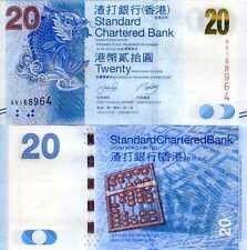 HONG KONG 20 DOLLARS 2010 SCB P 297 UNC