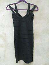 Lipsy bodycon black mini dress size 6 UK (6-8, XS)