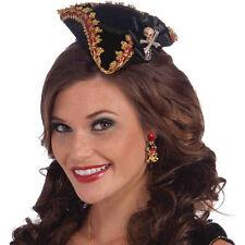 Mini Sexy Pirate Hat Skull Captain Adult Halloween Costume Accessories