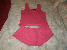 Jammilicious ladies 2 pc. pink summer pajama set size small