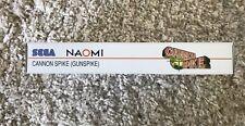 Sega Naomi Cannon Spike / Gunspike Arcade Cart Custom Box & Game Label