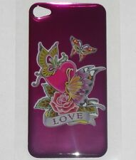 LOVE HEART Butterflys Design BACK STICKER for Apple iPhone 4/4G/4S Phone Decal
