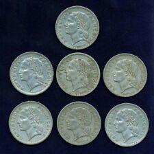 FRANCE REPUBLIC 5 FRANCS COINS: 1946-B,1947-B,1949-B,..