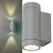 LED Außen Wand-Leuchte 300lm IP54 230V 9W Haus-Wand Lampe Strahler Duo Heitronic