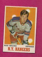 1970-71 OPC  # 184 RANGERS ROD SEILING EX-MT CARD (INV#4719)