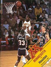 1987 Minnesota vs Houston Men's Basketball Program: Willie Burton