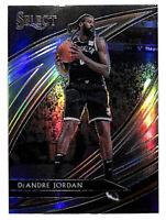 2019-20 Panini Select #244 DeAndre Jordan Courtside silver refractor card Nets