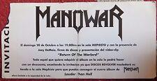 """MANOWAR: INVITACION  PRESENTACION DE SU DISCO """" LOUDER THAN HELL"""""""