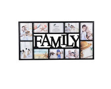 10 Pictures Multi Aperture Photo Frame Wall Mount Family Picture x 1