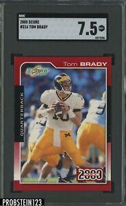 2000 Score #316 Tom Brady New England Patriots RC Rookie SGC 7.5 NM+