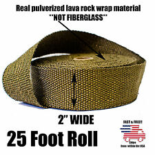 "THERMAL TITANIUM TURBO TAPE HEADER HEAT DOWN PIPE EXHAUST WRAP ROLL 2"" x 25 FEET"