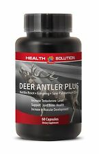 Extreme Muscle Growth Pills - Deer Antler Plus 550mg - Elk Velvet Extract 1B