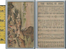 Victorian Card, 1890's, Royal St John, Music, Chattanooga, Tennessee River