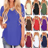 Women Short Sleeve T Shirt V-Neck Basic Tunic Blouse Summer Casual Loose Tops US