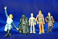 "STAR WARS Action Figure Lot Of 5 Average Height Is 4"" JAR JAR BINKS-DARTH VADER+"