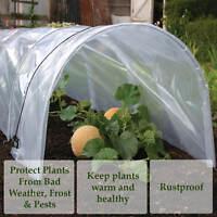 3X Polytunnel Cloche Garden Mini Greenhouse Grow Protect Plant 1.5M x 45 x 42cm
