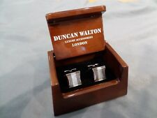 !!! DUNCAN WALTON MOTHER OF PEARL & ABALONE CUFFLINKS NEW IN BOX !!!